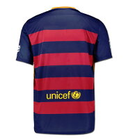 バルセロナユニフォームホームモデル15-16シーズン半袖キッズ・ジュニアサイズNIKE/ナイキ正規品