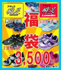 【福袋】キッズスニーカー アキレス瞬足2足入って3500円!【fkbr-k】