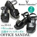 ロメオバレンチノ レディース オフィスサンダル B143026 B143011 厚底ソール 歩きやすい サンダル 6.5cmヒール