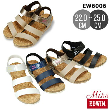 【在庫限り】【25.0cmのみ】Miss EDWIN(ミスエドウィン)レディースサンダル EW6006