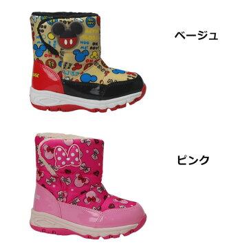 【30%OFF】ムーンスター ディズニー キッズ ウインターブーツ MoonStar Disney WC023ESP ミッキー ミニー 防水 スノーブーツ スパイク 長靴 男の子 女の子 子供靴 (1809)