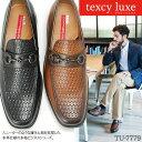 テクシーリュクス TEXCY LUXE ビジネススシューズ スクエアトゥ ローファー TU-7779 紳士靴 メンズ 男 テクシー リュクス texcyluxe 靴 メンズシューズ おしゃれ【アシックス商事】