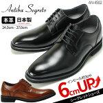 【送料無料】6cmUPシークレットシューズANTIBASEGRETO(アンティバ)3E撥水透湿本革防滑革靴メンズ機能性ビジネスシューズ紳士靴AN4502