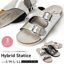 Hybrid Statice サンダル 31200 ダブルベルト コンフォート レディース レディースサンダル ミュール 靴 婦人 歩きやすい