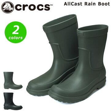 クロックス オールキャスト レイン ブーツ 204862 メンズ レインブーツ CROCS Men's AllCast Rain Boot 3M9 060 クロスライト 防水 長靴 男性 (1810)