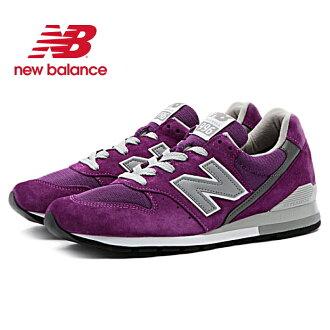 新平衡運動鞋996正規的物品new balance M996 PU[紫]Made in U.S.A人