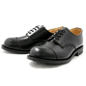 ラムジー靴ミリタリーRAMSEY442MILITARYCAPTOEOXFORD[ブラック]ビジネスシューズストレートチップメンズ英国製紳士靴men'sbusinessshoes