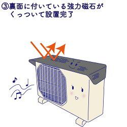 5022【期間限定価格】ポイント10倍簡単脱着マグネット式ワンタッチエアコン室外機保護フード室外機カバーエアコンカバー遮熱日よけ省エネ節電フォーラル