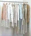 ポイント10倍 ティッシュ式洋服カバー 50枚セット (クローバー柄) 【4292】 日本製 衣装カバー 衣類カバー 洋服カバー 透明 通気性 不織布 フォーラル