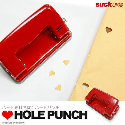 キュートなハート型の穴があきます♪HeartHolePunch (ハートホールパンチ) suckUK 2穴パンチ...