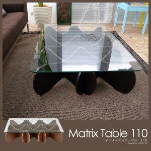 ガラステーブル ANDREW TYE アンドリュー・タイ 木製フレーム E&Y デザイナーズテーブル コーヒ...
