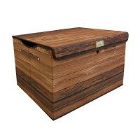 収納ボックス ROCCO STORAGE BOX HIGH 木目プリントの収納ボックス ウッド ボックス ハイサイズ