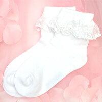 子供靴下白フォーマル靴下女の子ベビー靴下フォーマルフリルリボン付きフォーマルソックス111213141516171819cm
