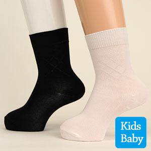 貴重な薄手!子供用 アーガイル柄 フォーマル 靴下