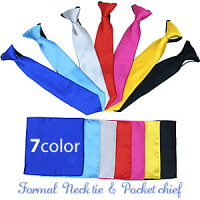 子供ネクタイチーフキッズネクタイダンス衣装ネクタイチーフセットレッドブルーピンクイエローブラックグレーサテンカラーネクタイ&ポケットチーフセット子ども用