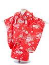【レンタル】七五三レンタル 3歳着物 3歳 女の子 赤色・毬と小花柄 被布セット 七五三着物フルセット 貸衣装