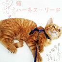 猫用 ハーネス リード セット ハーネスリード ねこ ネコ キャット 散歩 お出かけ かわいい 室内飼い 胴輪 ペット用品
