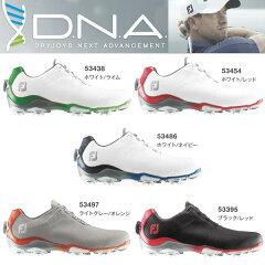 フットジョイ ゴルフシューズ DNA Boa 53454 (ホワイト/レッド) 53395 (ブラック/レッド) 53486 (ホワイト/ネイビー) 53438 (ホワイト/ライム) 53497 (ライトグレー/オレンジ)FOOTJOY D.N.A
