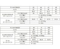 【メーカーカスタム】フォーティーンTC-606フォージドアイアン[NEWアッタスアイアン用]ATTAS10(100)カーボンシャフト6本セット(#5~#9,PW)FOURTEEN軟鉄TC606ATTASIRONマミヤOPMAMIYA