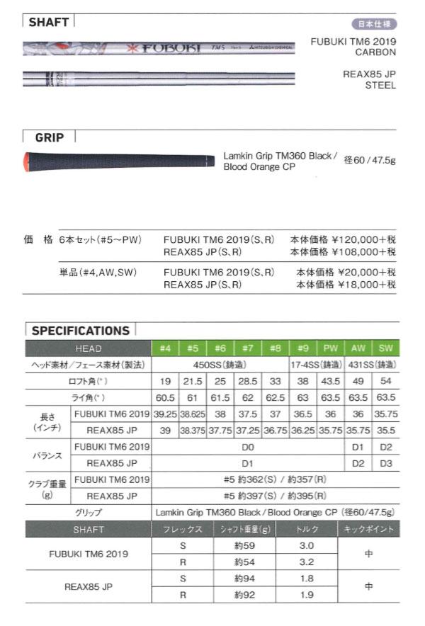 テーラーメイド M6 アイアン 6本セット(#5~PW)[NS PRO ゼロス 7/8] ゼロス セブン/エイト スチールシャフト TaylorMade M6 エムシックス Iron日本シャフト N.S プロ