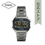 2021 夏の新作 フォッシル 腕時計 ガンメタル デジタル メンズ FOSSIL 時計 FS5846 RETRO DIGITAL レトロデジタル 公式 2年 保証