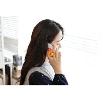 KAKAOFRIENDSグリップスマホホルダースリム落下防止スタンド機能マグネット対応【送料無料】ポップアップ全機種対応全5種カカオフレンズRYANAPEACHCONkakao韓国キャラクターかわいい