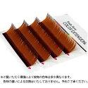 【フーラ】カラーエクステ4列シートブラウンJカール12mm×0.20mm