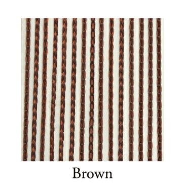 【VENUS PLATINUM】リリアンカーテンL−009 Brown 防炎加工