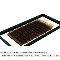【フーラ】カラーボリュームアップラッシュ12列シートダークブラウンCカール0.06mm×15mm