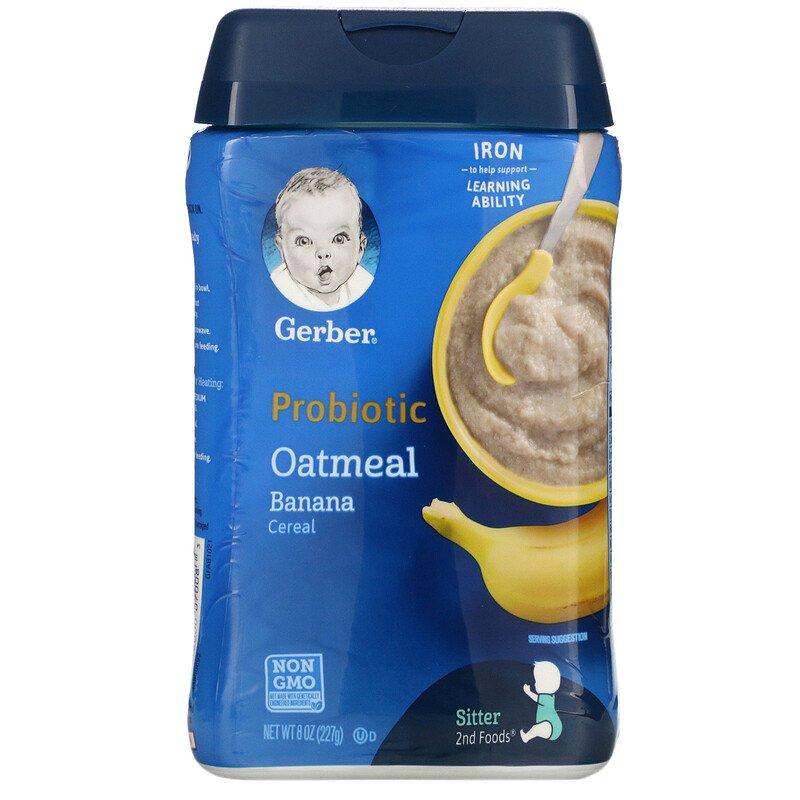 GerberProbioticOatmealCereal[Banana]8oz(227g)ガーバープロバイオティクスオートミールシリアル[バナナ]ベビーフードセカンドフードモグモグ期