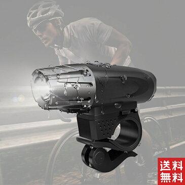 自転車 ライト 防水 LED 300lm 自転車ライト USB サイクルライト 充電 明るい ヘッドランプ 懐中電灯 充電式ヘッドライト フロントライト 前照灯 軽量 大人 子供 小型 高輝度 防滴 自転車用品 防災 取り外し可能 着脱簡単 盗難防止 LEDライト送料無料