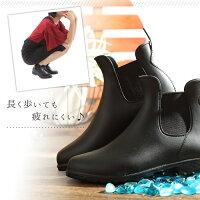 レインブーツレディースおしゃれ梅雨対策ショート長靴雨靴レインシューズサイドゴアブーツ防水軽量