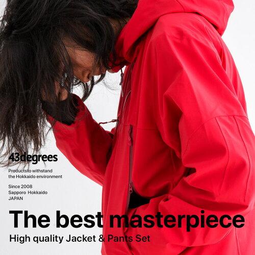 早期購入特典付き!スノーボードウェア メンズ ジャケット パンツ 上下 セット スキーウェア 43DEG...