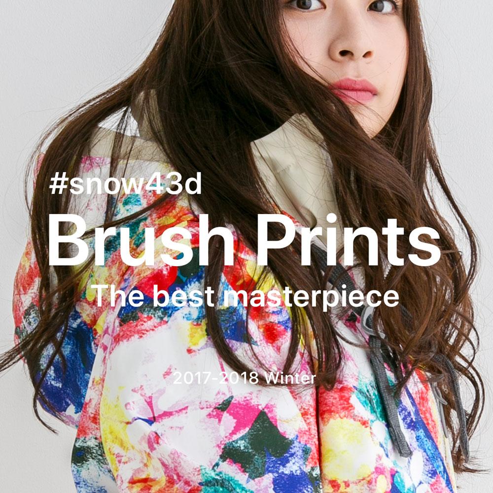 43DEGREES Brush Prints 2017-18 スノーボードウェア上下セット