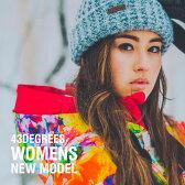 スノーボードウェア レディース スキーウェア 上下 セット 43DEGREES 新作 スノボウェア スノーボード ウェア スノボ スノボー ウエア Butterfly & Native