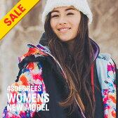 【SALE】スノーボードウェア レディース スキーウェア 上下 セット 43DEGREES 新作 スノボウェア スノーボード ウェア スノボ スノボー ウエア Butterfly(Vest)&Check〈セール品の為交換返品不可〉