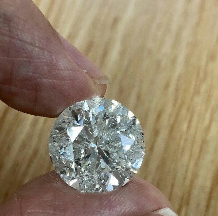 【在庫処分値下げ】 【中宝鑑定書付】15ct J I-1 Goodr ダイヤモンド ルース