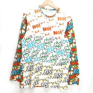 COMME des GARCONS SHIRT(コムデギャルソン シャツ) COMIC PRINT L/S TEE コミック プリント 長袖Tシャツ ホワイト サイズ:X【中古】【125 DM】【四日市 併売品】【125-191212-02YH】