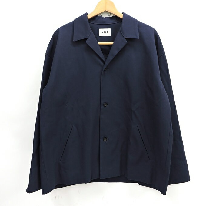 メンズファッション, コート・ジャケット KIIT COTTON GABARDINE OPEN COLLAR JACKET KIG-J99A-001 2125 DM 125-210203-01USH