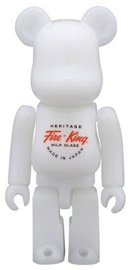 コレクション, フィギュア MEDICOM TOY 100 BERBRICK Fire-King WHITE MEDICOM TOY EXHIBITION 2014 065-210316-36HH