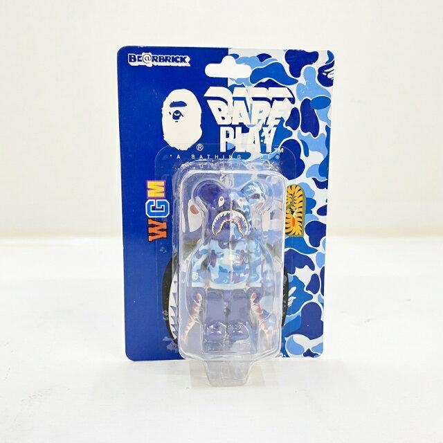 コレクション, フィギュア MEDICOM TOY 100 BERBRICK BAPE CAMO SHARK() BAPE PLAY BLUE 065-210316-49HH