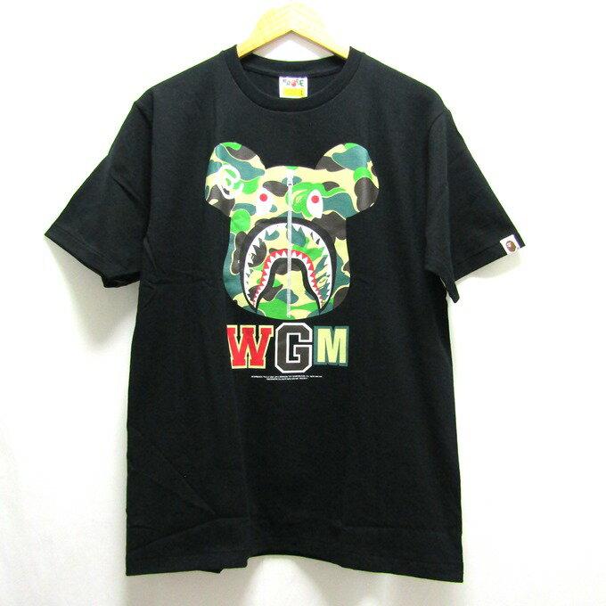 トップス, Tシャツ・カットソー A BATHING APEBERBRICK SHARK ABC CAMO TEE ABC T L126 126-210715-08USH