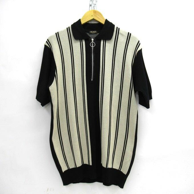 トップス, ポロシャツ MR.OLIVE MULTI STRIPE ZIP POLO SHIRT M-18209 M125 DM 125-210805-09USH