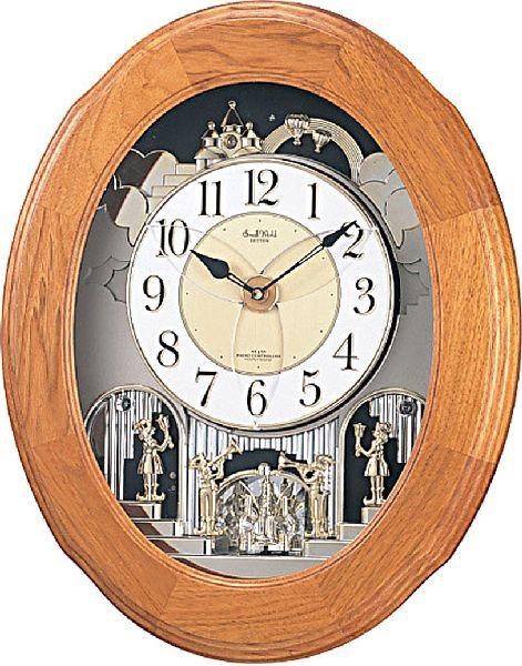CITIZEN シチズン リズム時計 スモールワールドソルシアF アナログ 電波時計 からくり 掛け時計 30曲メロディ 4MN422RB06:butler