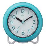 お風呂 時計 防水 防滴 バスクロック バブルコート 置き時計 置時計 ノア精密 FEW130 BU マグ ノア精密 MAG