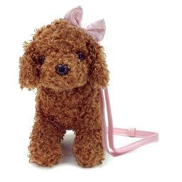 PUPPY PASSION 犬のぬいぐるみ型 約20cm ミンポシェット ショルダーバッグ トイプードル ピンクリボン 46069