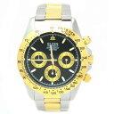 エルジン 腕時計 メンズウォッチ クロノグラフ 日本製ムーブメント ウォッチ ホワイトxゴールド FK1059TG-B