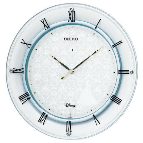掛け時計 壁掛け時計 電波時計 セイコー SEIKO クロック ディズニータイム シンデレラモデル アナログ スワロフスキーエレメント FS503W