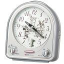 目覚まし時計 置き時計 セイコー クロック SEIKO ディズニー メロディ シルバー FD464S
