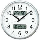 掛け時計 壁掛け時計 掛時計 カレンダー 温度湿度表示 温湿時計 電波時計 電波クロック セイコー クロック SEIKO KX235S